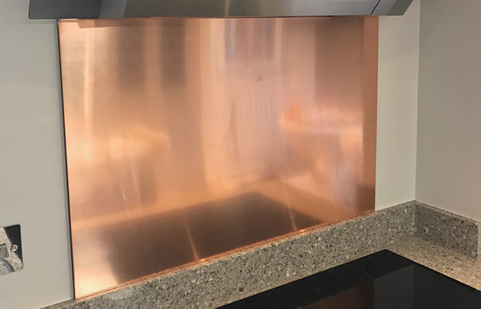 Copper Kitchen Fitted Splash backs