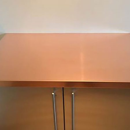 1000mm length x 600mm wide x 40mm high Copper Worktops