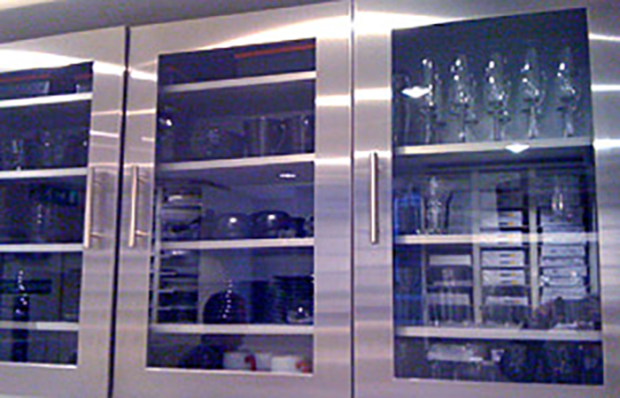 Stainless Steel Glass Kitchen Units