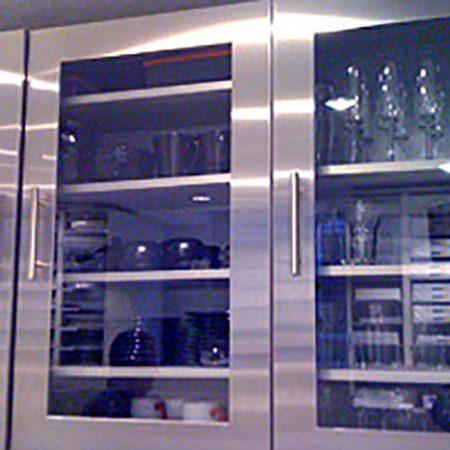 Glazed Stainless Steel Door 570mm high x 897mm wide x 19.50mm