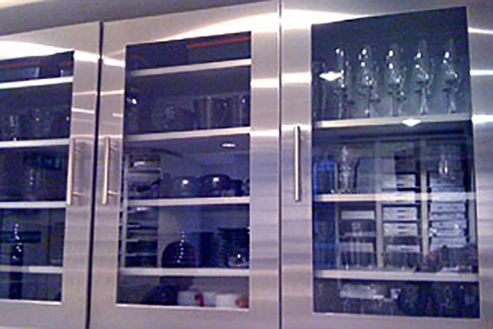 Glazed Stainless Steel Door 355mm high x 597mm wide x 19.50mm