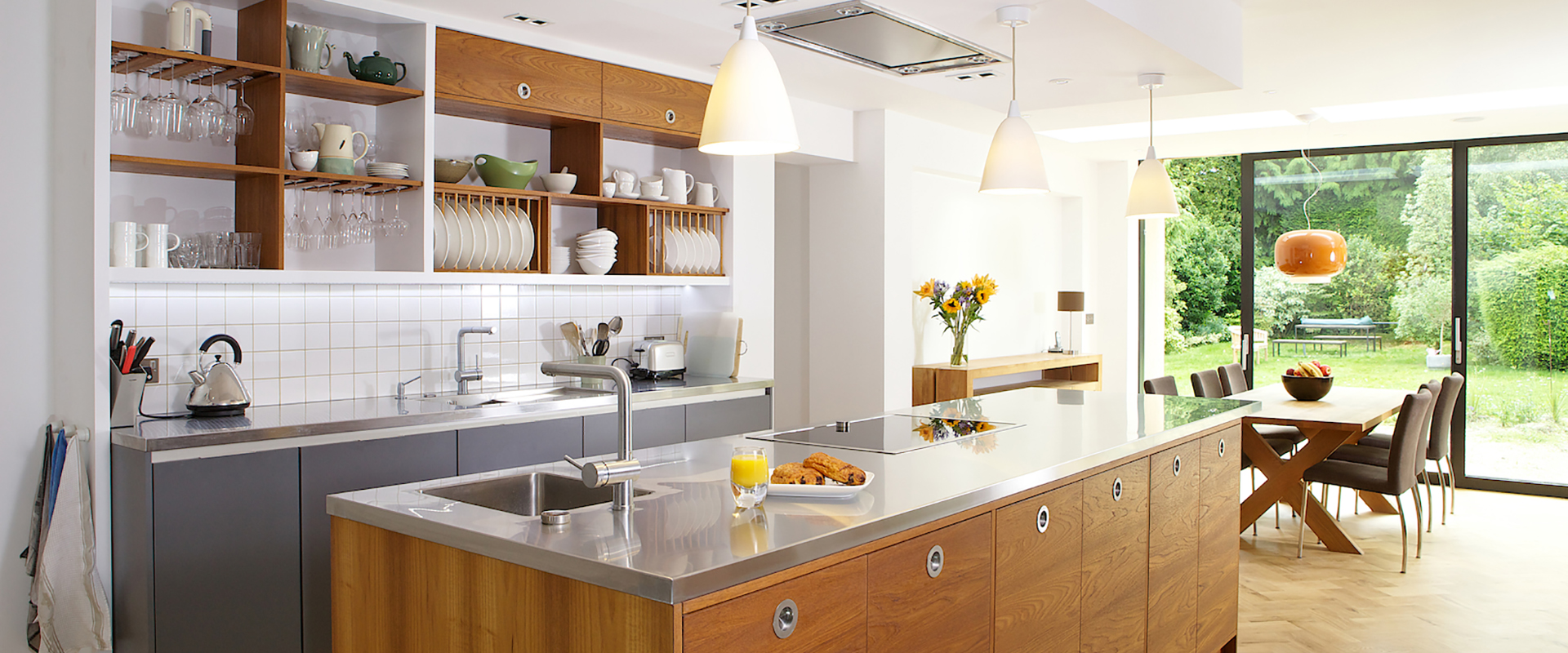 Bespoke Fully Fitted Stainless Steel Kitchen