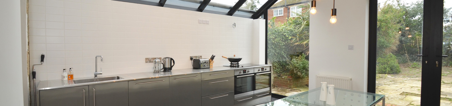 Hybrid Stainless Steel Kitchen Base And Wall Cabinets