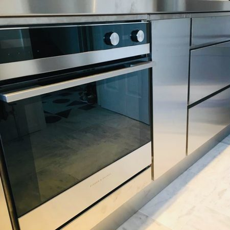 Brushed Stainless Steel Doors & Drawers 1245mm high x 597mm wide x 19.50mm
