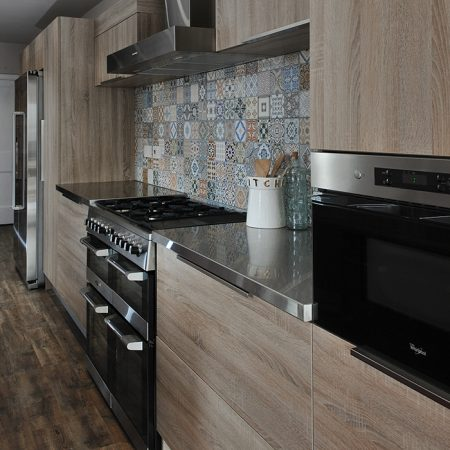 600mm length x 600mm wide x 40mm high Stainless steel worktops