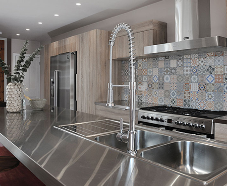 Made to Measure Stainless Steel sinks and Worktop