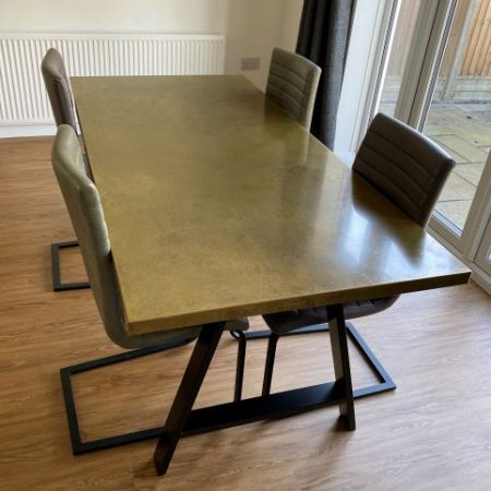 Aged Brass Dining Table 1800mm x 900mm