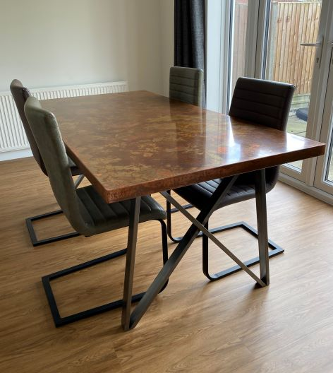 Aged Copper Dining Table 1800mm x 900mm
